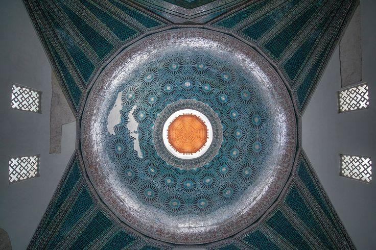 Konya - The Dome of Karatay Madrasa . Interior view.