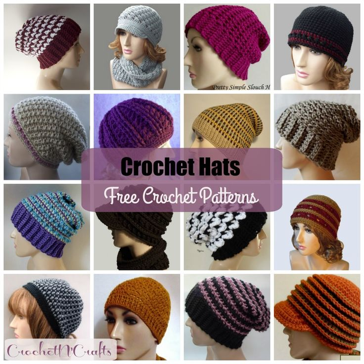 3253 mejores imágenes de Crocheting hats en Pinterest | Punto de ...