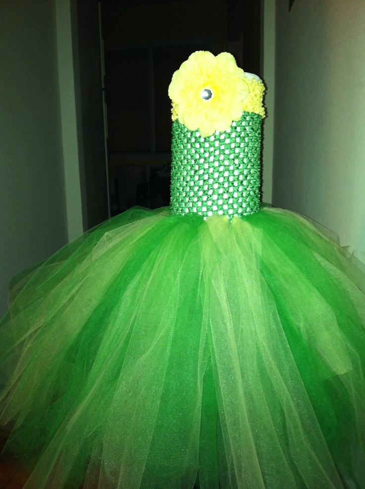 yellow and green tutu... this was for a little girl whose family was a huge packers fan!
