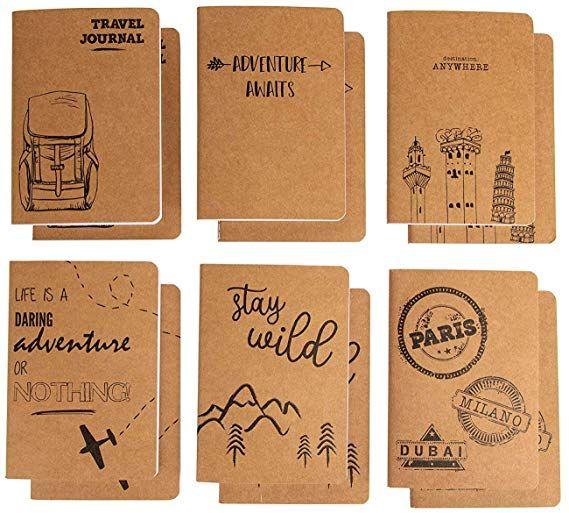 Amazon com : Kraft Notebook - 12-Pack Lined Notebook