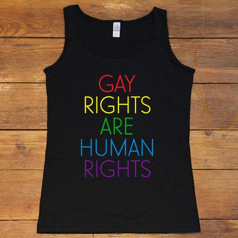 Gay Rights Are Human Rights -- Women's Tanktop – Feminist Apparel