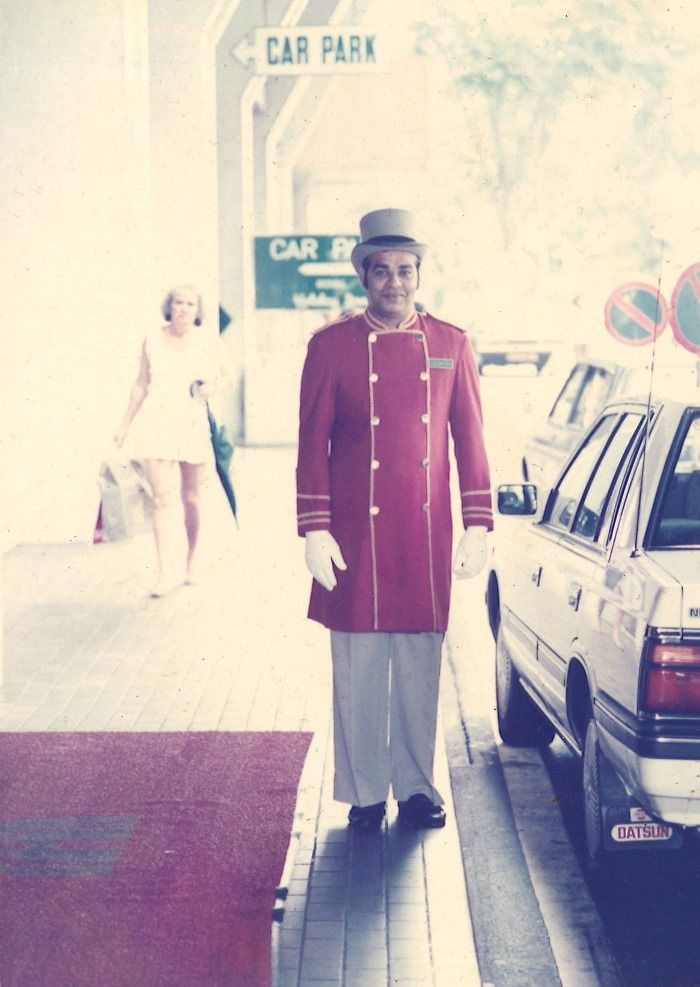 Our doorman's uniform back in 1989! Uncle Syed still works with us - it's his 38th year now!