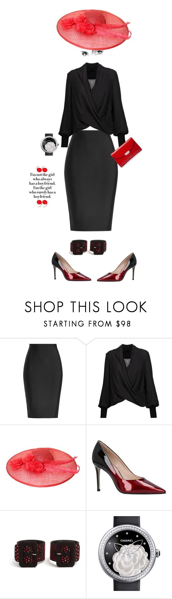 """""""Sexiness zzz my name"""" by sylviaasue ❤ liked on Polyvore featuring Roland Mouret, Alice + Olivia, Carvela, Attico, Chanel and CÉLINE"""