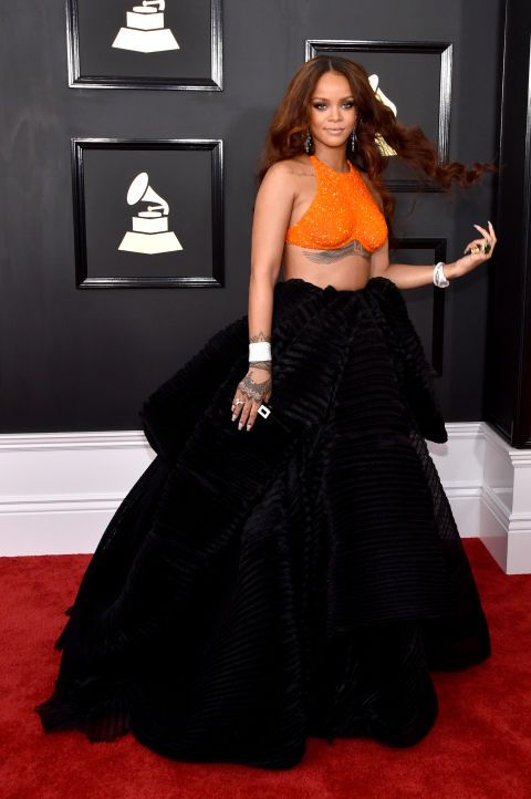 Go big or go home might as well be Rihanna's (who kills it in in Armani Privé) motto.