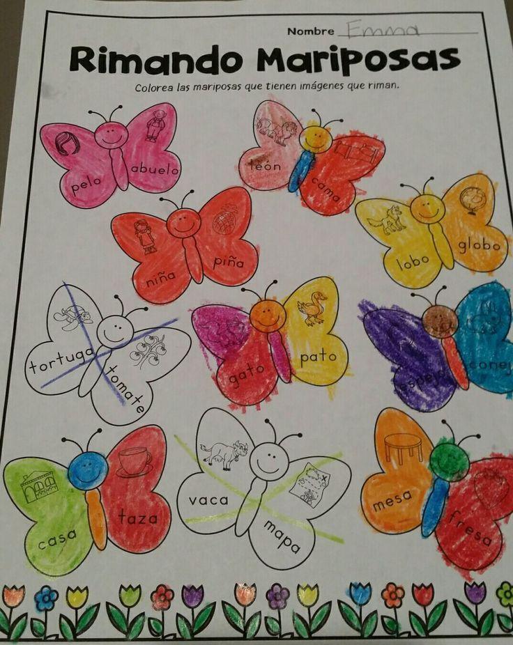 Hoja de Rimando. Paquete de matematicas y lectura para abril (Spanish April Math and Literacy Packet). Este paquete contiene 20 hojas de cálculo matemáticas y 20 hojas de trabajo de lectura. Las hojas de trabajo incluyen palabras de alta frecuencia, lectura de palabras sencillas,  localización de oraciones, lectura de frases sencillas, 10 cuadros,identificando los números 11-50, uno más y uno menos, adición, y formas 2D y 3D, y mas.