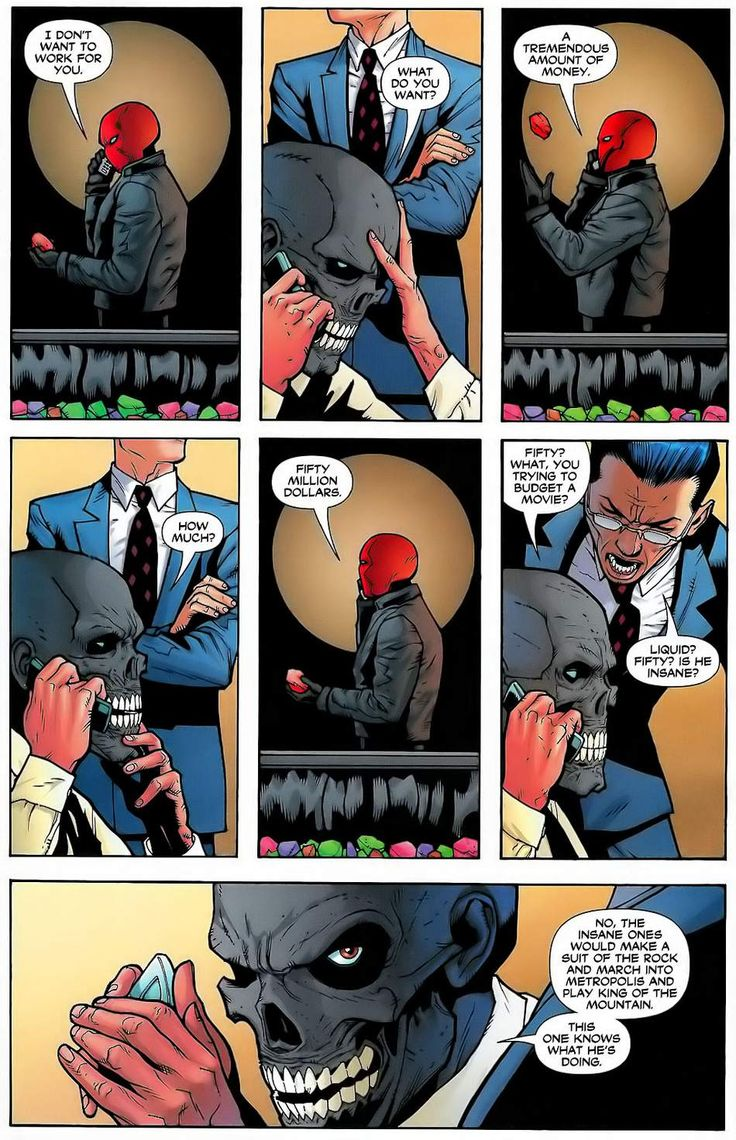 Red hood and Black mask in Batman Under the Red hood
