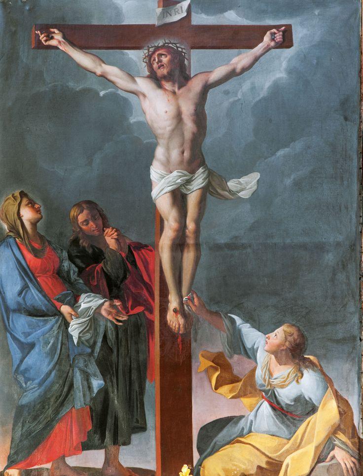 Pittore del XVIII sec. Crocifissione, Agriano di Norcia, Chiesa di S. Vito