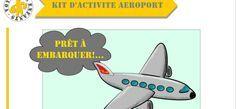 Kit activité enfant: aéroport freeprintable | VOYAGES ET ENFANTS