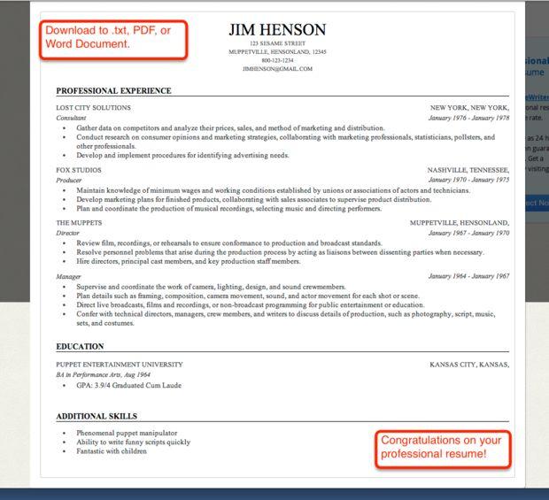 25+ melhores ideias de Resume creator no Pinterest Carta de - linkedin resume builder