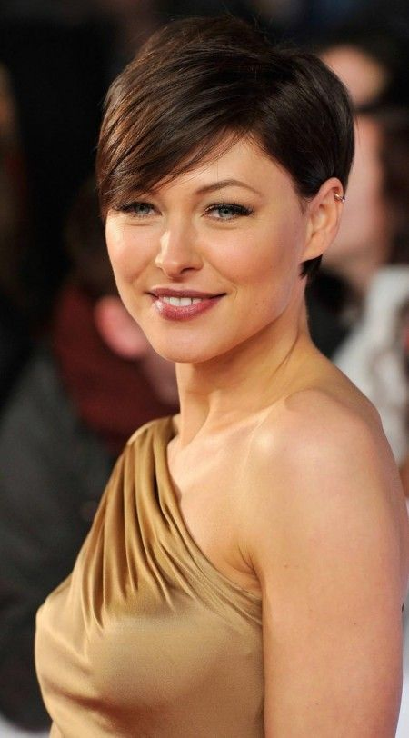 I like Emma Willis best with short hair. It enhances her beautiful face. I wonder if it would work for me?