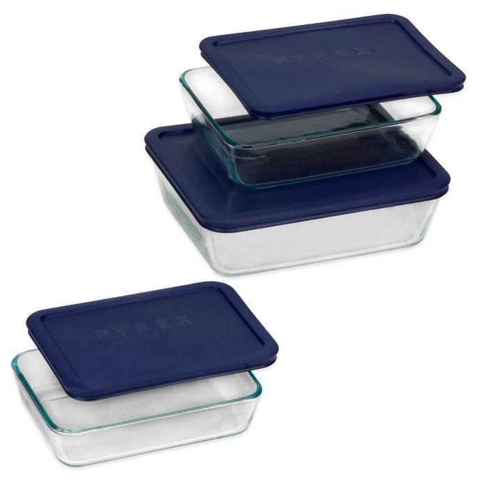 Pyrex Simply Store 6 Pc Rectangular Set Pyrex Glass Storage Glass Food Storage Glass Food Storage Containers