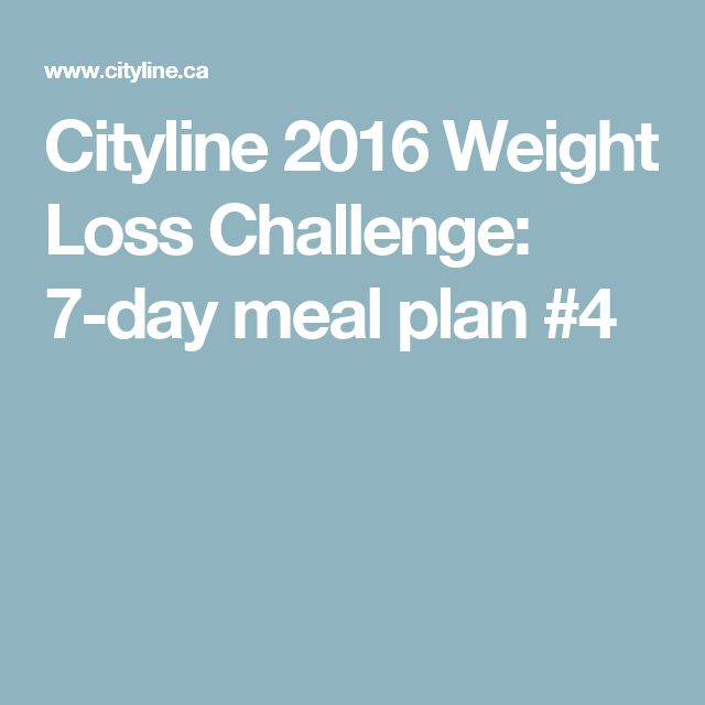 Cityline 2016 Weight Loss Challenge: 7-day meal plan #4