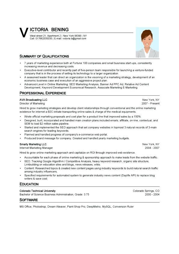 Pin On Word Template For Resume