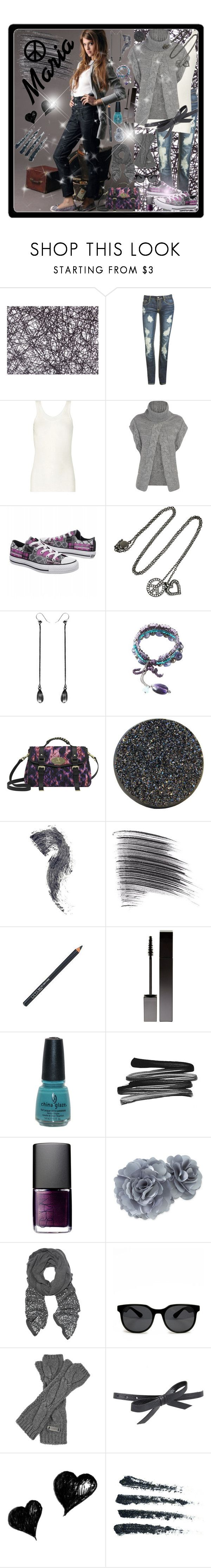 """""""Maria del Cerro :)<3"""" by andrej4e-xoxo ❤ liked on Polyvore featuring Moooi, Wet Seal, VPL, Dorothy Perkins, Converse, Solange Azagury-Partridge, Ann Demeulemeester, Promod, Paige Novick and Raven Denim"""