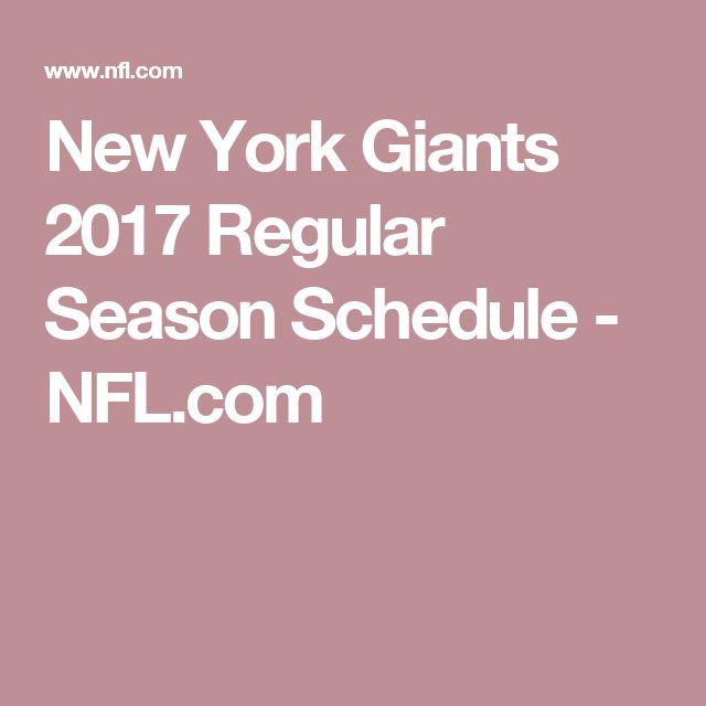 New York Giants 2017 Regular Season Schedule - NFL.com