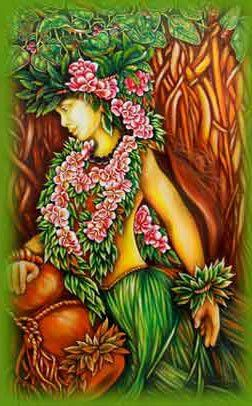 Laka, the Goddess of Hula, the dances that share and preserve the myths, legends and histories of the hawaiian people.