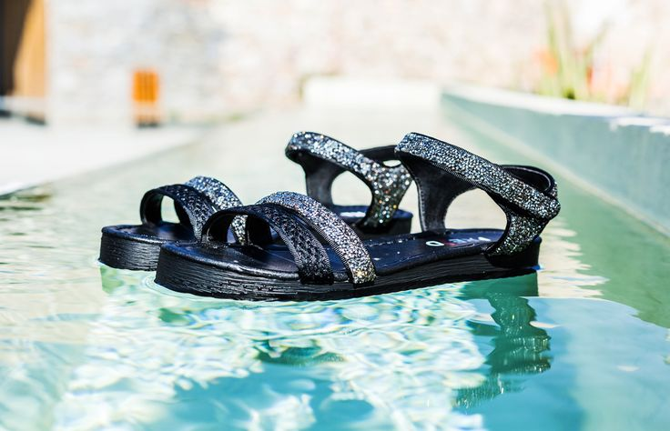 Strass Black Flatforms S/S 2015 #Fred #keepfred #shoes #collection #mesh #fashion #style #new #women #trends #flatforms #black #sandals #silver #strass