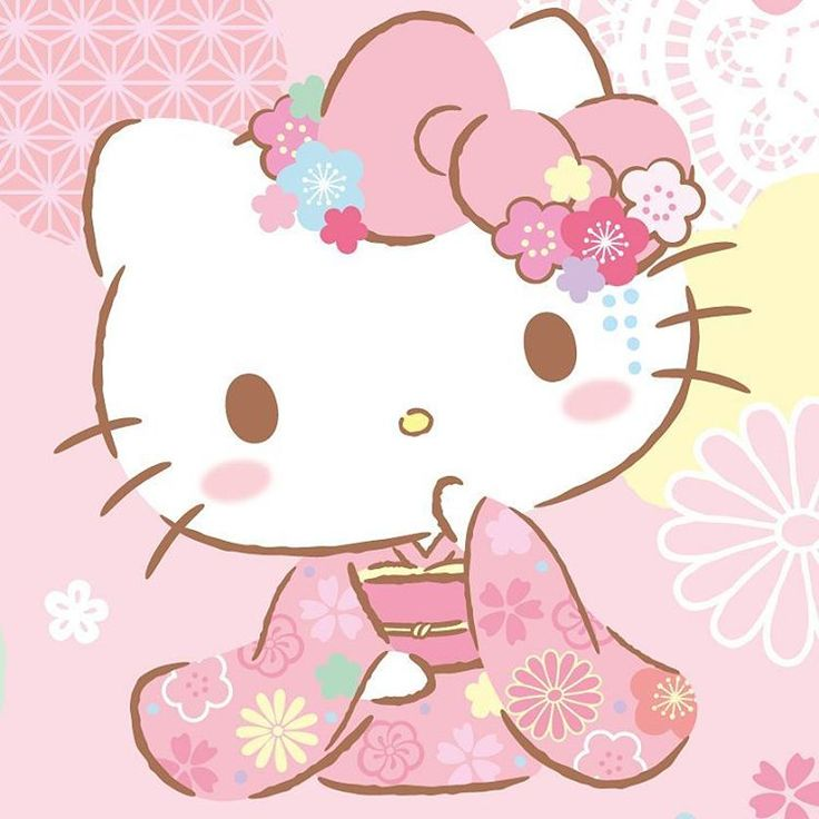 """55 Likes, 1 Comments - Hello Kitty (@wearehellokitty) on Instagram: """"How cute is Hello Kitty celebrating the Golden Week in her kimono?  #sanrio #hellokitty…"""""""