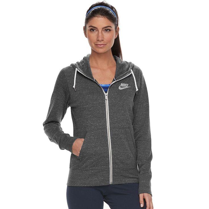 Women's Nike Gym Vintage Zip Up Hoodie, Size: Medium, Grey Other