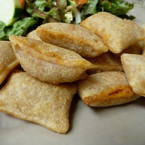Homemade Totino's Pizza Rolls. But fill them with a cheeseburger mixture instead.