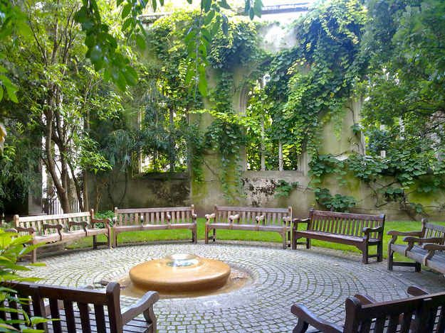 Or a bench with a view in the gardens of St Dunstan-in-the-East?