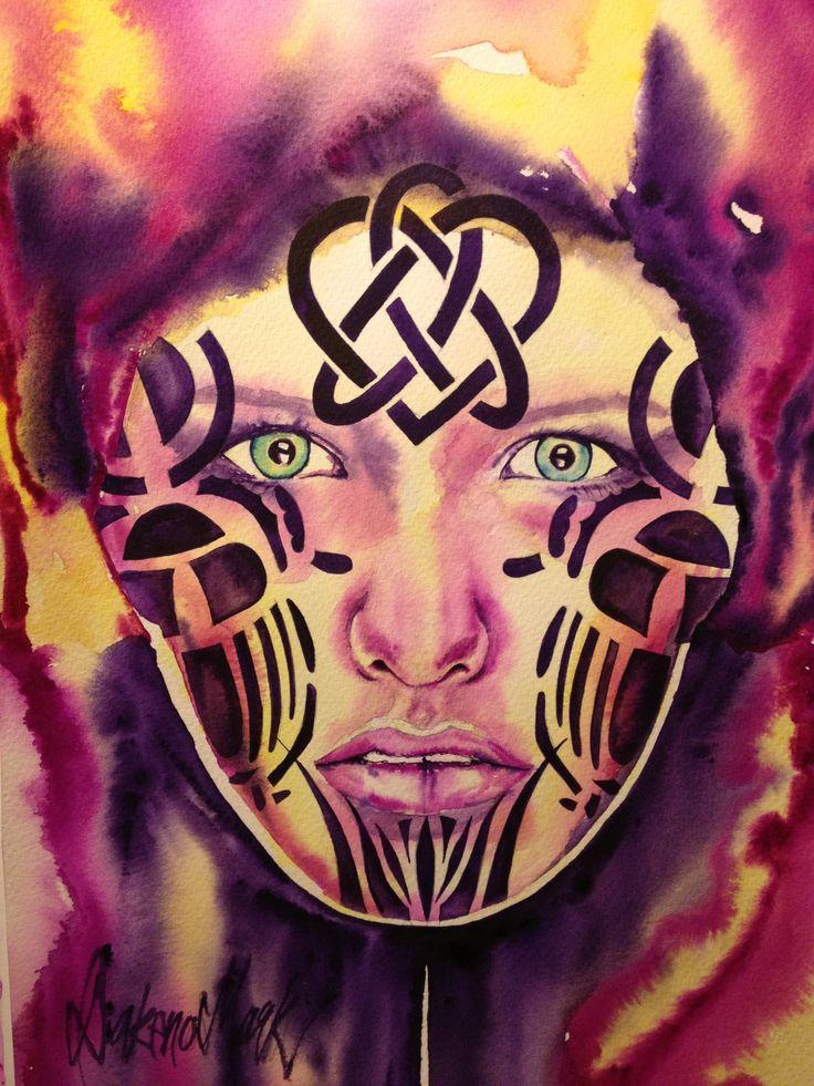 Alloy, watercolour by Dakeno Mark, 2013