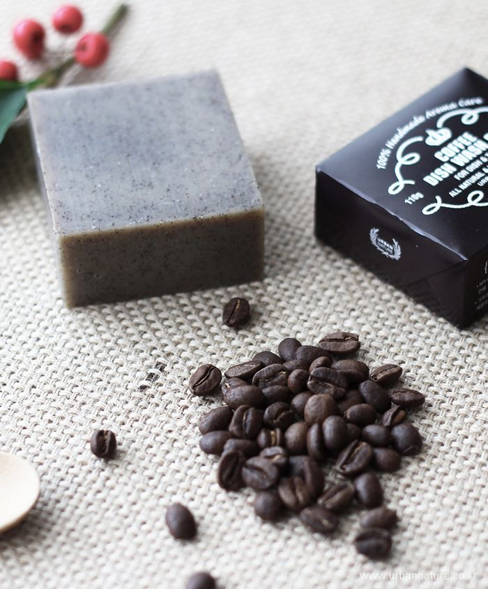 urbannature handmade aroma soap-210 coffee dish wash bar 어반네이쳐 핸드메이드 아로마 비누 / 커피가루가 들어간 설거지용 비누!