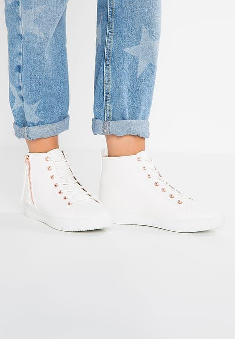 Missguided High-top trainers - white for £25.49 (17/05/17) with free delivery at Zalando