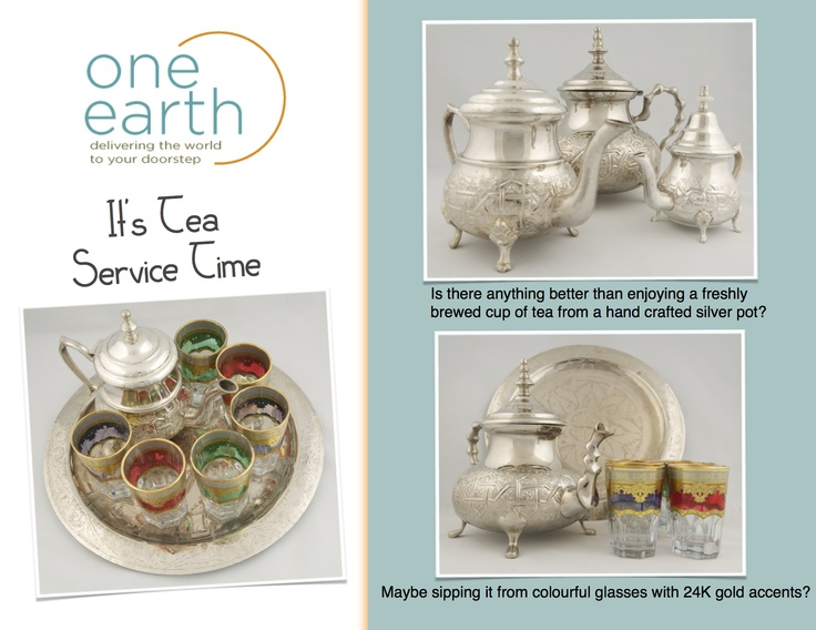 When nothing but the best will do! Handmade to serve and sip your tea!