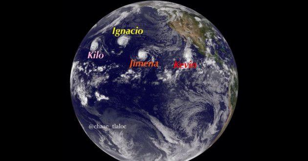 Pacífico registra por primera vez tren de 4 ciclones
