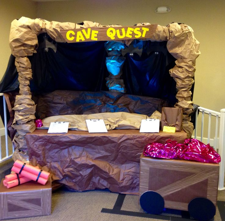 Cave Quest VBS. Nazarene caverns. Recruit volunteers and preregistration for VBS.