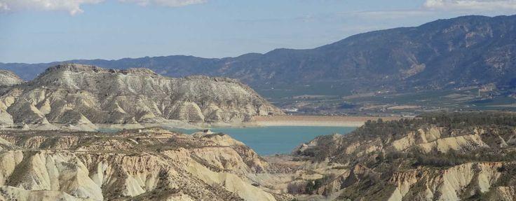 Amazing views of the Gebas lake and the Barancos Gebas, Murcia