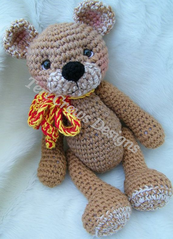 Big Teddy For Hugs Crochet Pattern by Teri Crews Instant Download Digital PDF