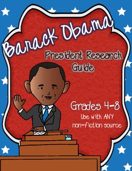 Guided Note Taking Sheet for Upper Elementary/Middle School to guide students researching the life/presidency of Barack Obama. Easy to use worksheet that is a perfect addition to Black History Month, President's Day or everyday curriculum! Individual or group activity!