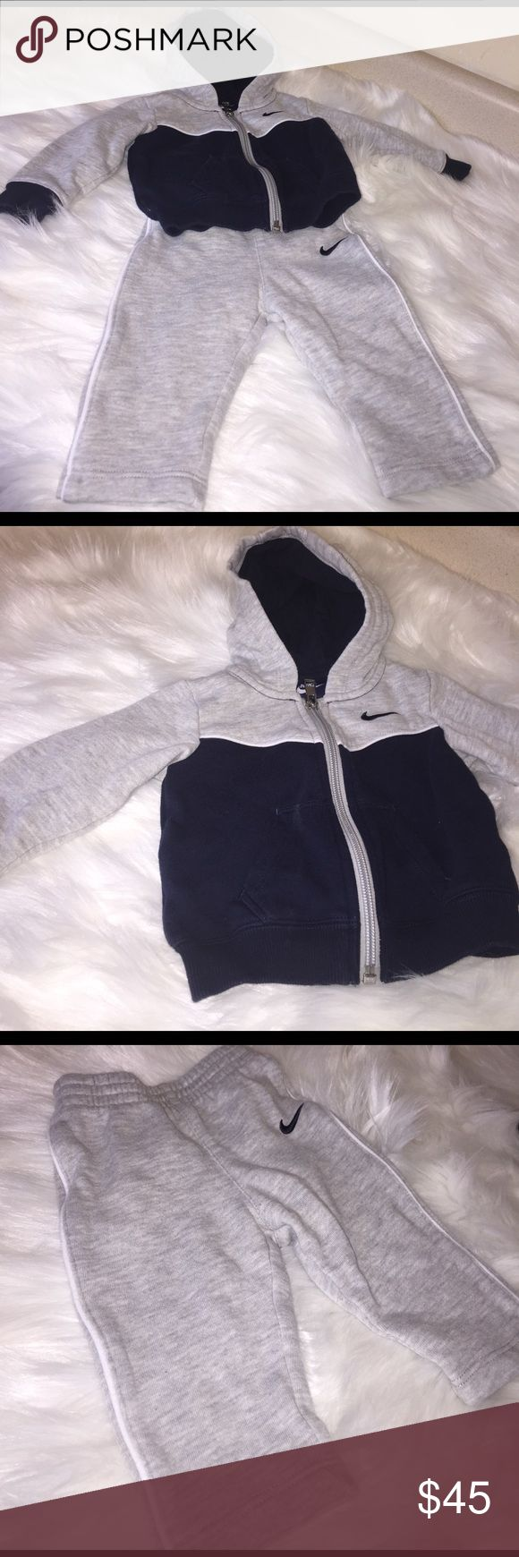 Baby Nike Sweat suit Gently Used Nike Sweat Suit. Navy Blue and grey. Make an offer. Nike Matching Sets