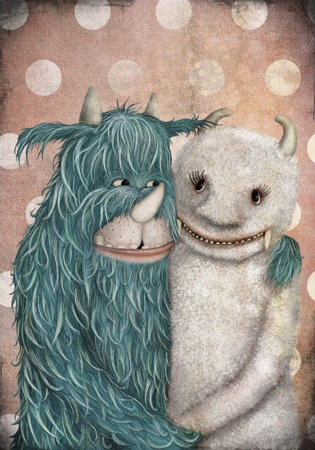 Monsterlove  - Majali #nordicdesigncollective #majali #majalidesignochillustration #illstration #monster #monsterlove #love #valentinesday #valentine #iloveyou #iheartu #iloveu #bemyvalentine