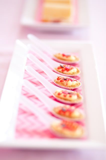 serve cheesecake bites at your next baby shower via kara 39 s party ideas
