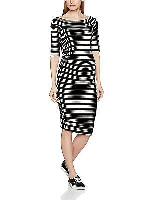 22, Black, Dorothy Perkins Maternity Women's Off the Shoulder Striped Dress NEW