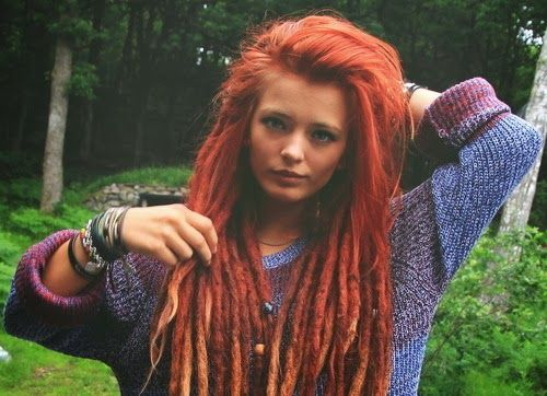 Liking the idea of having a few dreads twined with some yarn in my hair. Unique