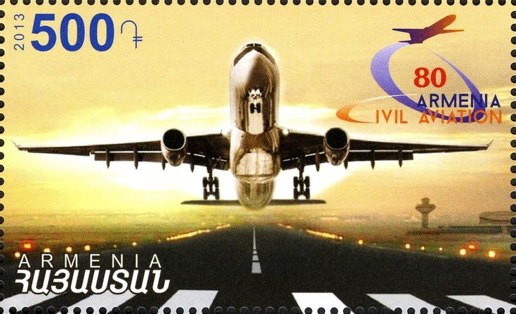 Francobollo: 80th Anniversary of Armenian Civil Aviation (Armenia) (80° anniversario del'aviazione civile armena) Mi:AM 864,WAD:AM042.13