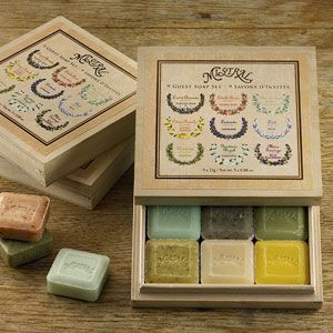 9 Guest Soap Wood Gift Box, Travel Soap Gift Set