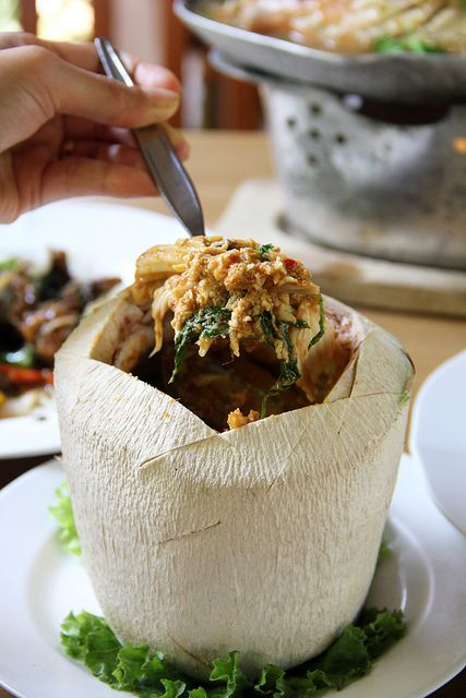 Hor Mok Ma Prow Awn (Seafood Curry in Coconut) by Migration Mark, via Flickr