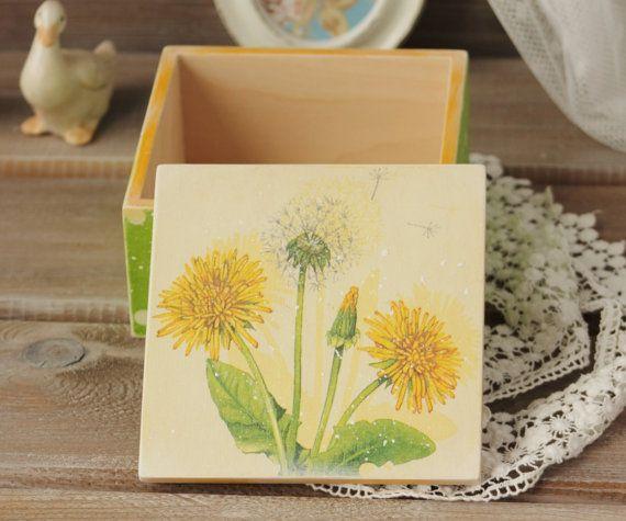 Gioielli scatola legno deposito scatola Shabby di NostalgieDecor