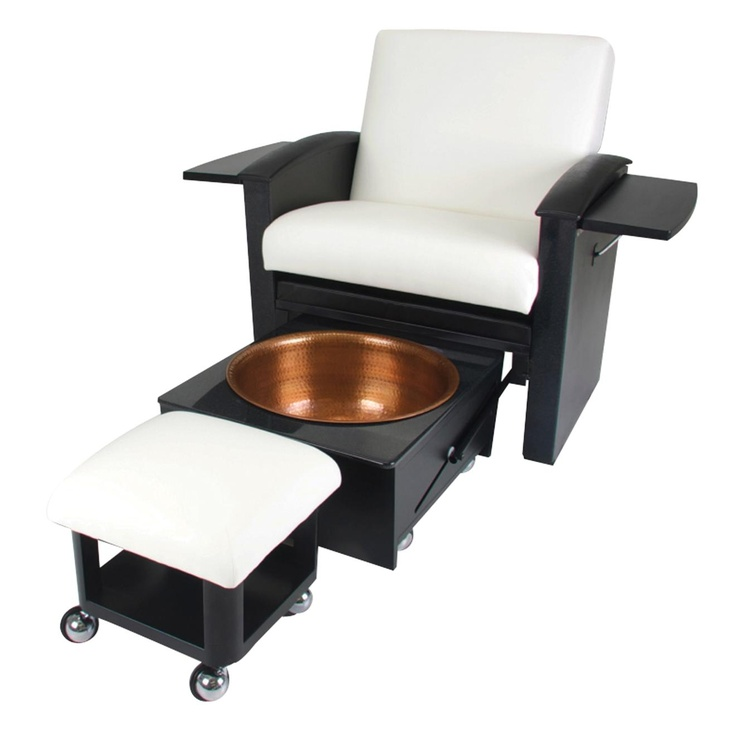 A custom cabinet maker could easily add a drawer with a cut out (similar to  sc 1 st  Pinterest & 60 best stylin images on Pinterest | Pedicure chair Nail spa and ... islam-shia.org