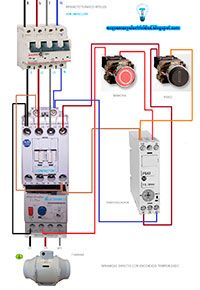 Esquemas eléctricos: Arranque directo con encendido temporizado