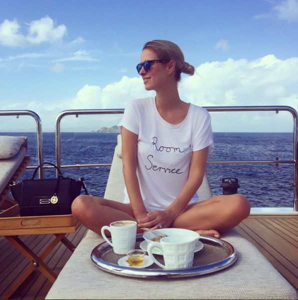 Nicky Hilton sets sail and orders room service.    - TownandCountryMag.com