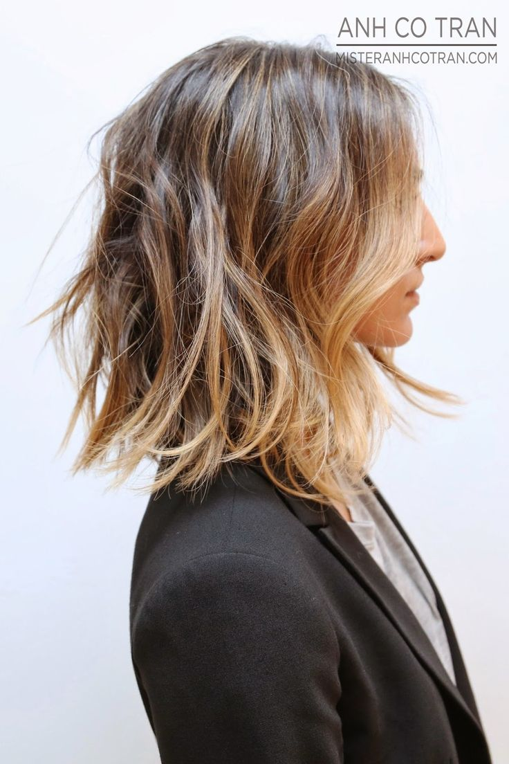 LOUISA nextstopfw | hair hairstyle ombre sombre balayage waves curls brunette blonde highlights bob