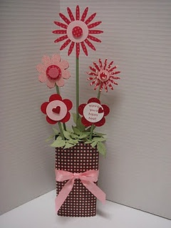 Candy Bouquet!  I'd like to find a way to make something like this to put in the nursery...  minus the candy of course.