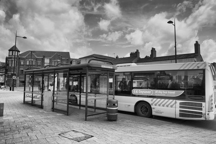 ePaper display @ Birmingham busstop #ePaperdisplay #epapersignage #einksignage #mpicosys #busstop #epaper #eink