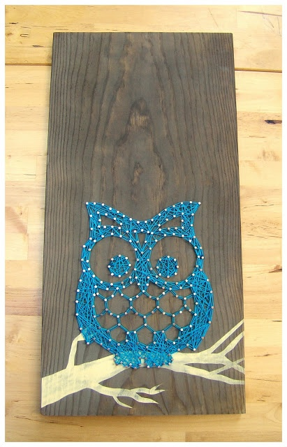 String Art: Otis the Owl...Love the OWL! Nice way to make string art COOL again!  Do you have any flamingos or squirrels or camels in your collection? You probably have no idea how many squirrel lovers and re-habbers ( like myself) are out there and would love something like that! I collect both flamingo & squirrel artifacts and would love to find a pair oc camel bookends like I saw once in a shop and have never seen again!Love your work! How do I enter to win one of your beautiful works of…